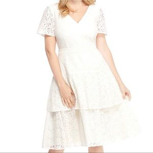 Gal Meets Glam Doris Bow Back Lace Dress